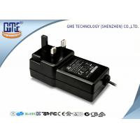Black Wall Mounted 12V Power Adapter 1.5M Cable 3 Prong Plug With CE Certificates Manufactures