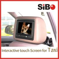 China Taxi Touch Advertising Screen with CMS on sale
