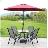 Summer Garden Furniture Table and Chairs Set with Parasol Sun Shade Manufactures