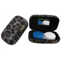 Hard Creative Travel Contact Case With Cool Leopard Pattern Customized Logo Manufactures