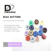 Round Natural Imitation White Shell Buttons For Women'S Clothing Manufactures