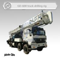 China 600 meters depth Truck mounted core drilling machine for deep water resourse on sale