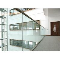 Stairs Deck Aluminum Glass Railing Indoor Floor/ Wall Mounted With Handrails Manufactures