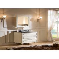 Moden Solid Wood Vanity Units For Bathrooms  / Solid Oak Small Vanity Sink Units Manufactures