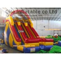 Buy cheap double  slide inflatable aqua slide with safe baffle from wholesalers