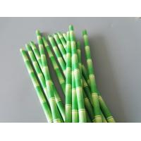 China Bamboo Printed Eco Compostable Paper Straws Jumbo Size 7.75 on sale