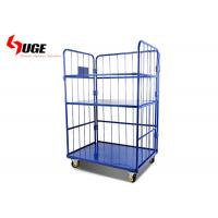 China 3 Sided Metal Roll Cage Container Trolley Loading Capacity 500kg on sale