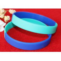 Light Weight Custom Silicone Rubber Wristbands Multi Colors Segmented Manufactures