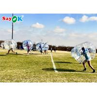 China Transparent Inflatable Sports Games Human Size Bubble Soccer Bumper Ball on sale