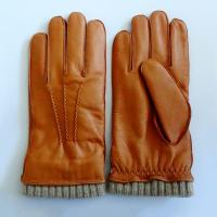 Fashion Nappa Leather Shearling Gloves , Men Wool Lined Leather Gloves Manufactures