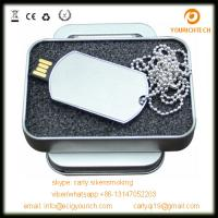 China Promotion Gift USB Flash Drive Dog Tag necklace Pendrive Memory Stick mini pen Drive with custom logo on sale