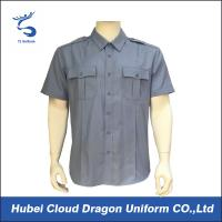 Off duty poly cotton poplin short sleeve military tactical shirt Manufactures