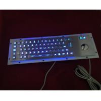China IP65 sealed illuminated metal keyboard with trackball on sale