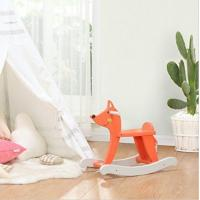 Orange Lovely Cute Fox Rocking Horse Wooden Toy For Kid 1-3 Years Old Manufactures