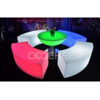 Curved Glowing Lit Furniture Led Bar Chair Used Nightclub Bench Manufactures