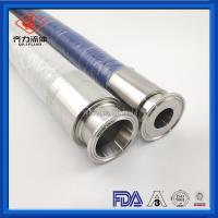 China Food Liquids Sanitary Hose Fittings Flexible  PVC  Tube Clear Spiral Wire Reinforced on sale