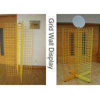 Four Way Metal Wire Retail Display Racks , X Shape Wire Grid Display Stands Manufactures