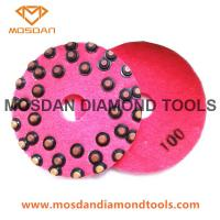 17 Inch Diamond Concrete Flexible Polishing Pads with Resin Dots Manufactures