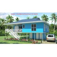 Fireproof Two-Story Prefab Beach Bungalow , Blue Home Beach Bungalows Manufactures
