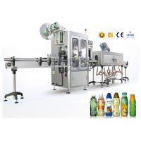 PET / OPS Small Capacity Shrink Sleeve Label Applicator For Flat Bottles Manufactures
