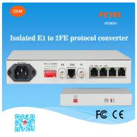 FCTEL E1 to 2 Channels 100Mbps Ethernet Fiber Managed Protocol Converter