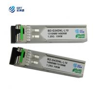 CE FCC approved 1000LX (LC) single-mode 1310Tx/1490Rx, 10 km 1.25g BiDi SFP Module Manufactures