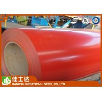 Red Cold / Hot Rolled GI Steel Coil , PPGI Steel Sheet Roll Roofing Materials Manufactures