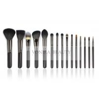 China Natural Hair Makeup Brushes Set Essential Makeup Brush Tools Private logo on sale