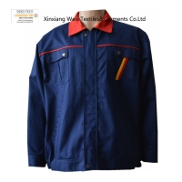 China Navy Blue Flame Retardant Arc proof Jacket Coat / Men And Women FR Factory Workwear For Machinery Industry on sale