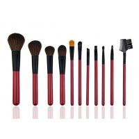 China Red Beautiful Travel Foundation Makeup Brushes Professional Set 11 Piece on sale