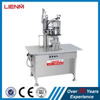 Semi automatic air fresher, paint, snow, pu foam, body spray Aerosol Filling and Sealing Machine Manufactures