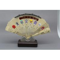 China Customised Metal Gold Silver Metal Folding Hand Fan  Prize Chinese Traditonal Souvenir Support on sale