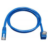 Down Angle Lan Network Cable Gigabit Molded Patch Cord For Print Server Manufactures