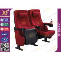 PP Outer Back Fabric Black Plastic Shell Cushion Theater Chairs For Stadium Manufactures