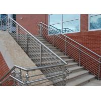 Low Hardness Stainless Steel Pipe Railing , Steel Pipe Handrail For Bridge / Road / Factory Manufactures