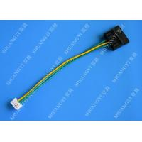 Molex Black Large 4Pin To Small 4Pin Green Yellow Power Transfer Wire Harness Manufactures
