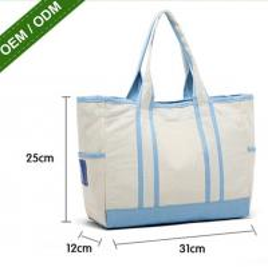 China Custom Blank Cotton Tote Bag New Fashion Price Canvas Satchel Bag on sale