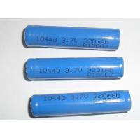 China Non-toxic 3.7V 320mAh 10440 Lithium Ion Ultra High Energy Density Rechargeable Batteries on sale