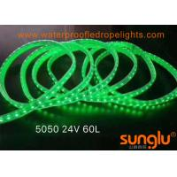 Quality DC24V Anti - UV PVC Outdoor LED Rope Lights 10MM Green / Pink / White for sale