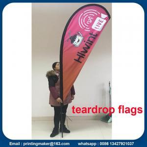 Custom Teardrop Flag Banner Printing Manufactures