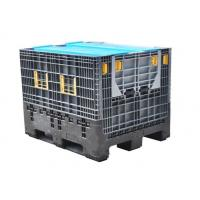 China Grey Industrial Plastic Storage Boxes / Stackable Storage Bins For Vegetable Food on sale