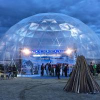 Clear Geodesic Dome Tent With Luxury And Popular Light Show For Celebration Manufactures