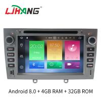 Support Digital TV Double Din Peugeot DVD Player Manual Air Condition Manufactures