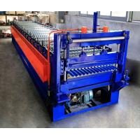 0.25-0.6mm Corrugated Roof Making Machine / Corrugated Sheet Roll Forming Machine Manufactures