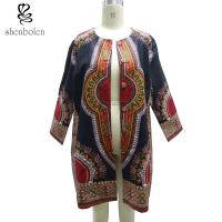 Double Breasted African Ladies Jackets And Coats Oversize Multi Colors Manufactures
