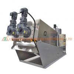 China 24 Hours Automatic Filter Press Multi Disk Screw Press Sludge Dewatering Machine on sale