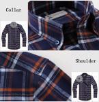cvc80/20  print flannel men's  work shirts Manufactures