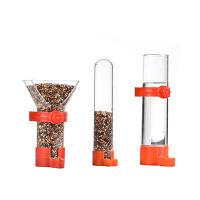 funnel bird seed feeder with clip, for finches canary cockatiel,color vary Manufactures