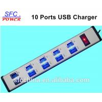 5V 2.4A and 1A USB 10-PORTS CHARGING STATION FOR iPad mobile MP3 Manufactures