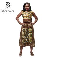 Garment Dyed Adult Dashiki African Print Jumpsuit , African Inspired Jumpsuits Manufactures